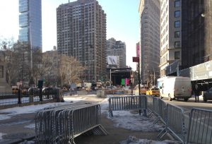 Preparations for the NBA All-Star Weekend Celebrations near Madison Square Park have been met with resistance from concern civilians and community boards.