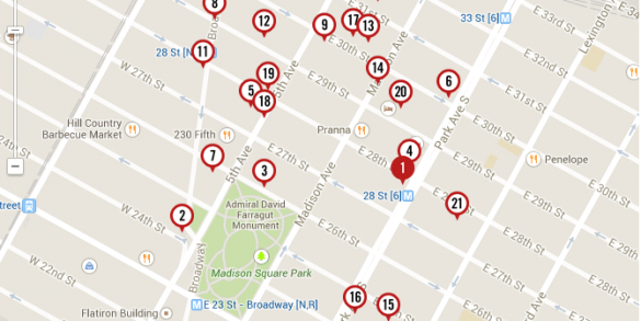 Curbed Plots Booming NoMad Developments on Microhood Map