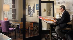 barry goralnick tenant sketching in a Kew Management Office in NoMad NYC