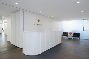Kew Management tenant Blueberry Builders redesigned the Versace offices.