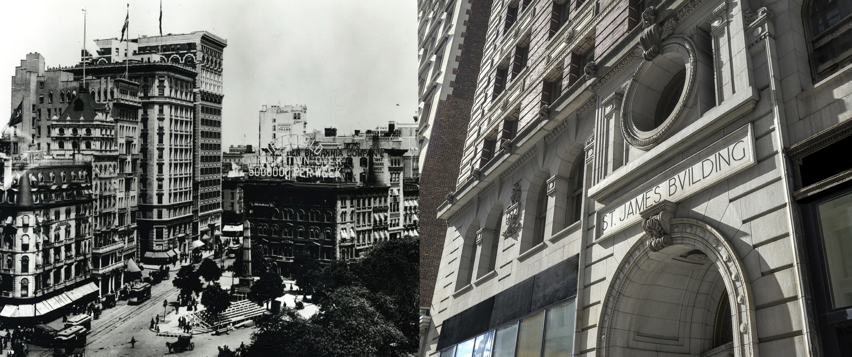 Read about the St James building history in New York City.