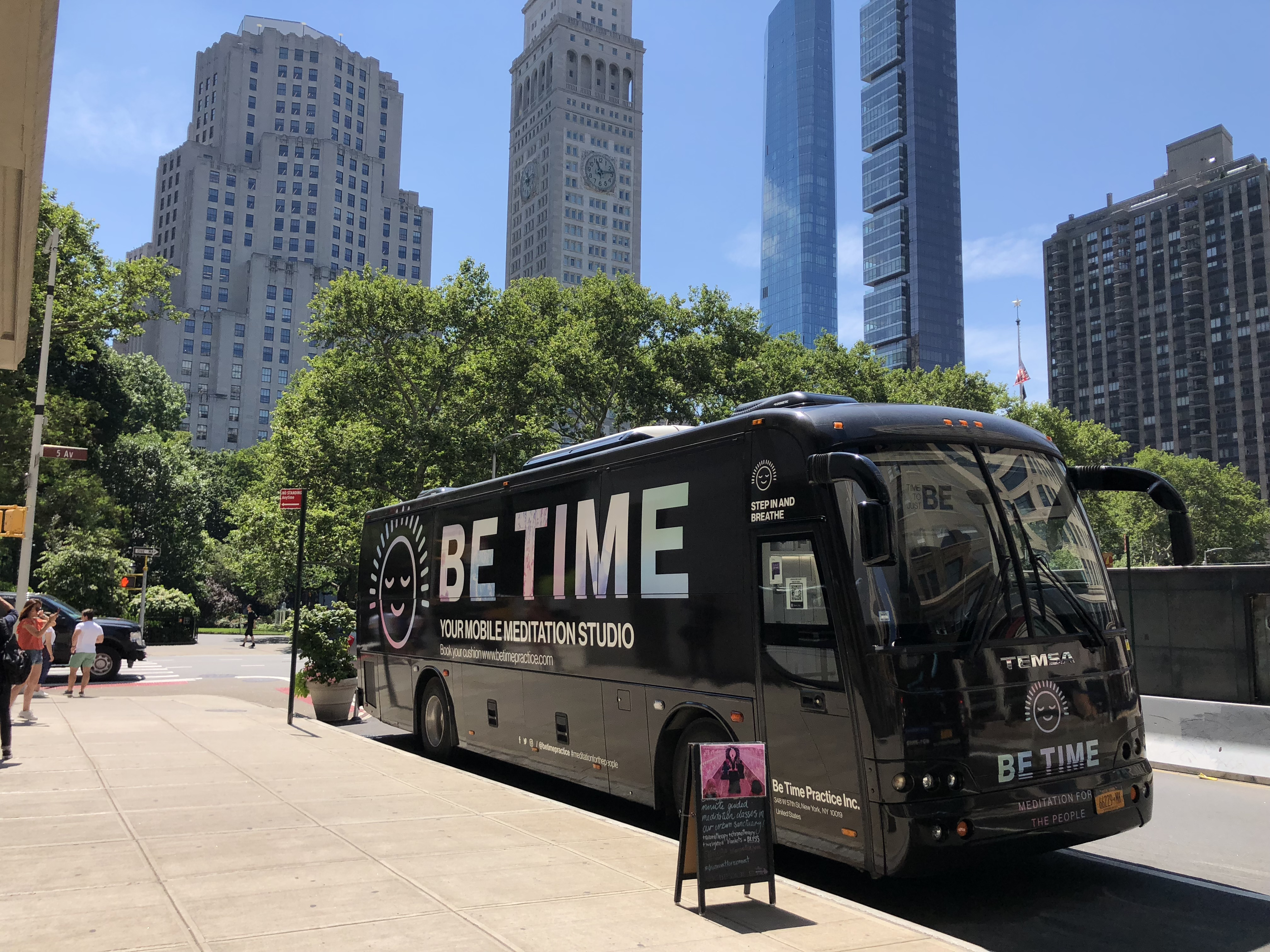 Need a Moment? The BE TIME Meditation Bus Makes Weekly Stops in NoMad