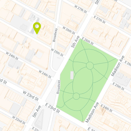 11 West 25th - Map