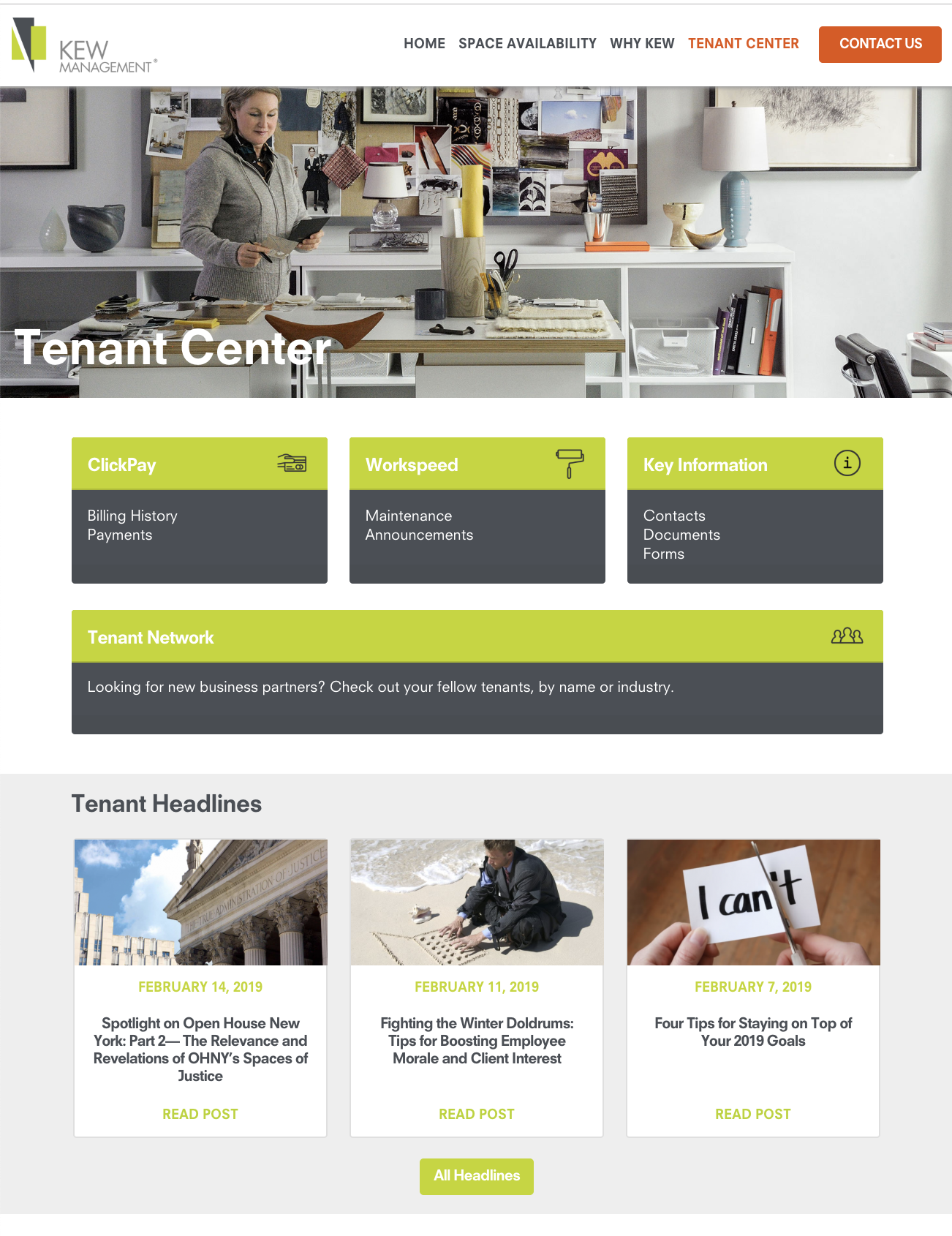 Making Your Experience Better: Our New Online Tenant Center